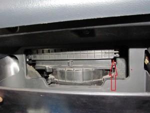 крышка фильтра салона за бардачком kia cerato