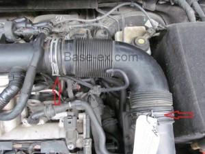 VW Golf TSI патрубок воздушный