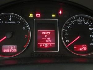Audi A4 1.8T панель приборов