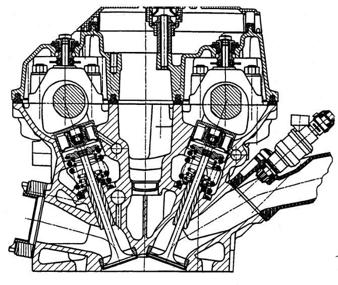 Поперечный-разрез-головки-блока-цилиндров-двигателя-М60