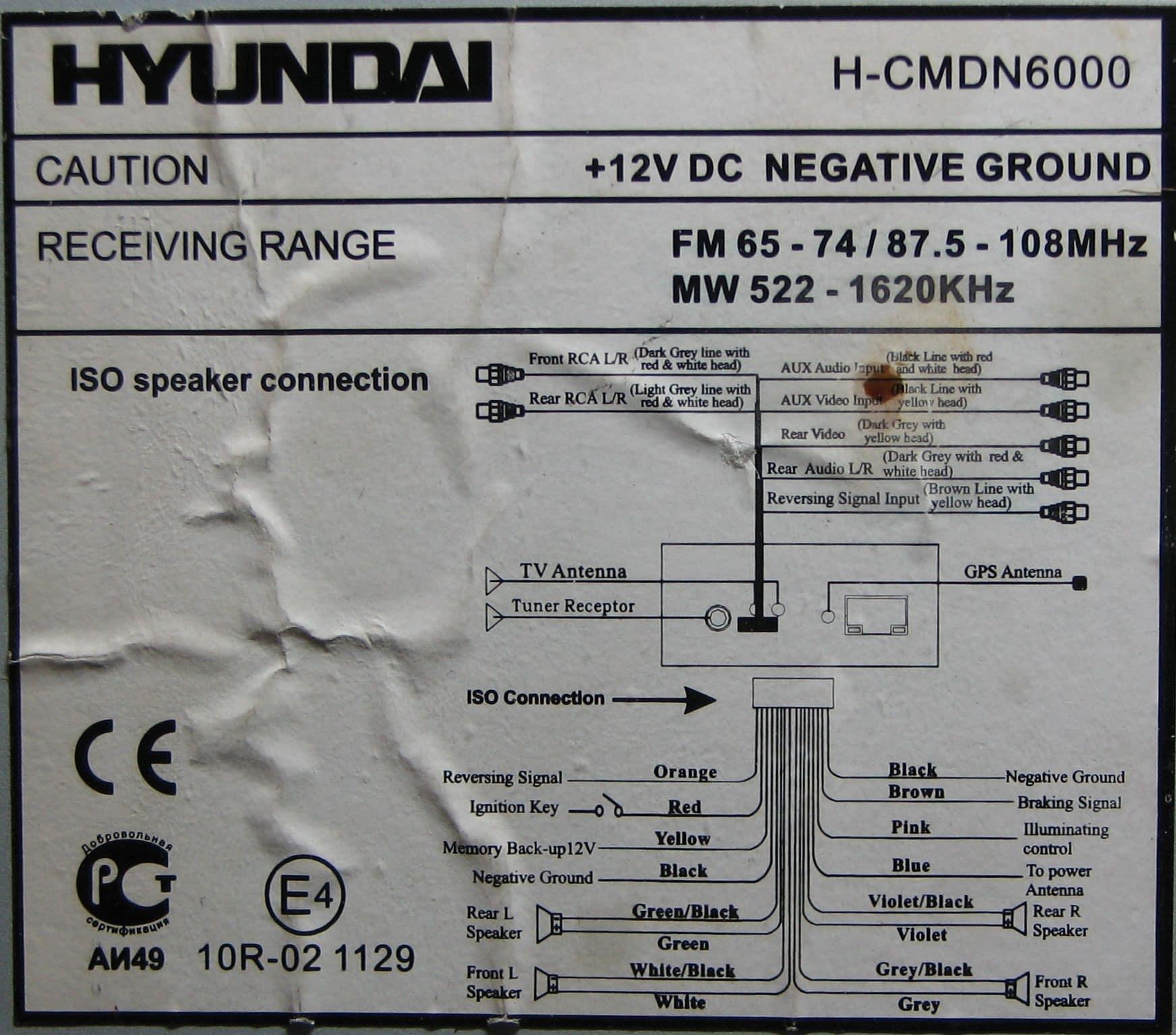 распайка выводов hyundai h-cdm8037