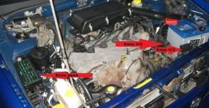 реле в моторе Nissan Almera N15