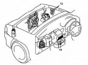предохранители Mazda Demio 1