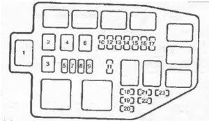 реле Mazda Demio 2
