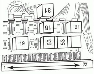 предохранители Passat B3 B4