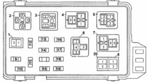 предохранители Toyota Camry 20