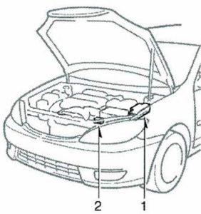 схема Toyota Camry 30