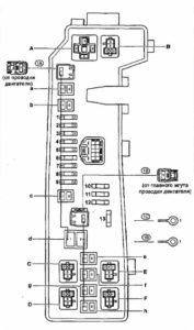 монтажный блок Toyota Corolla 120