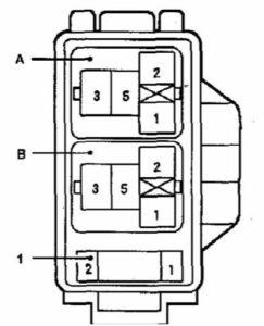 блок реле Toyota Corolla