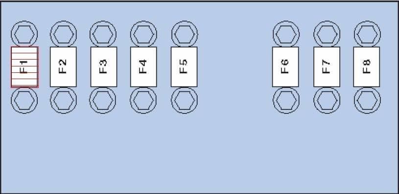 блок предохранителей фольксваген пассат б7 схема