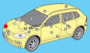 схема Volkswagen Touareg 2