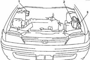 схема Toyota Corolla 100