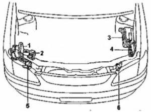 схема Toyota Corolla Spacio