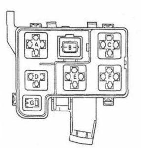 блок реле Toyota Rav4 XA10G