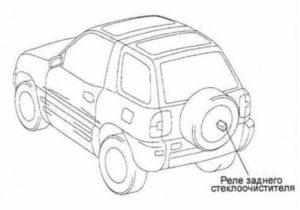 с заду Toyota Rav4 XA10G