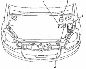 монтажный блок Toyota Yaris