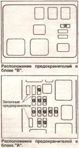 предохранители Toyota Ipsum 1
