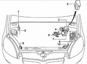 схема Toyota Vitz Platz