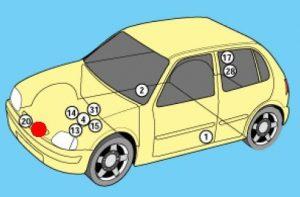 схема Nissan Micra, March K11