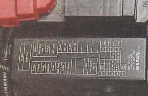 Nissan Primera P12 схема блока