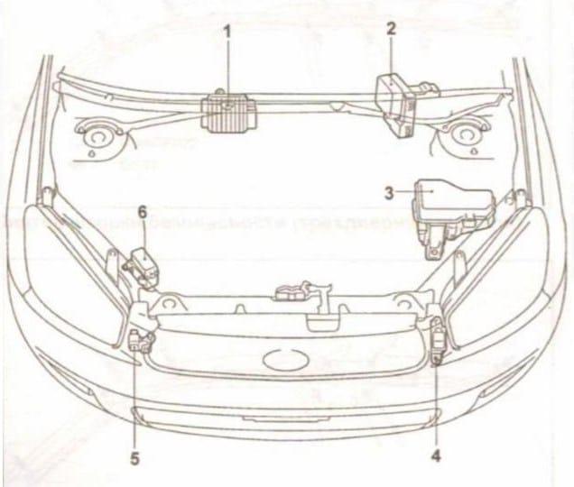 схема Toyota Rav4 2