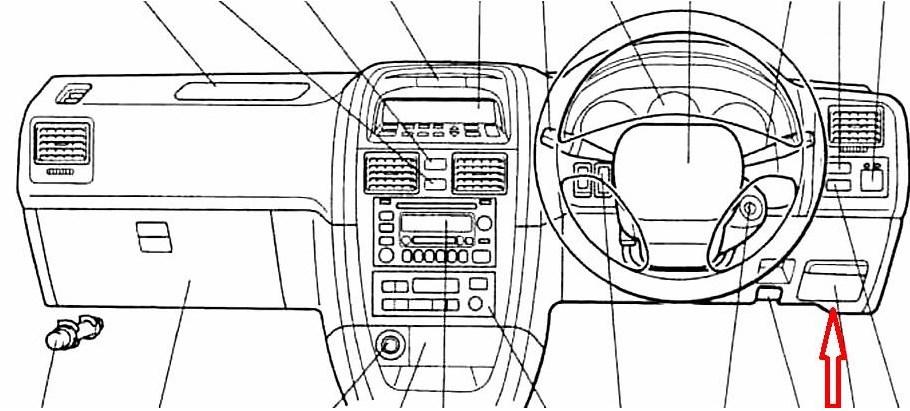 панель Toyota Caldina T21